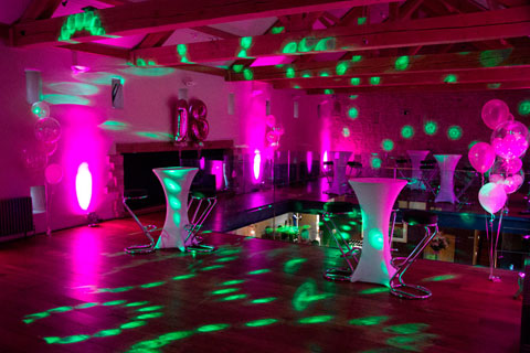 Up lighting for birthday parties